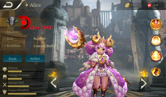 Arena of Valor : Hero Alice ( The Adorable Mystic ) Full Support Builds Set up Gear