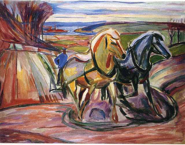 Эдвард Мунк - Весенняя пахота. 1916