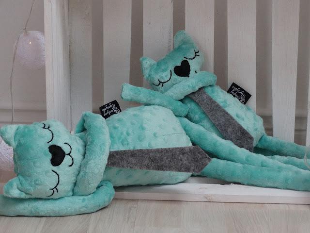 pluszak do spania kot mięta 5