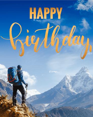 Birthday Wishes for Hikers (Trekking, Hiking, Nature Lovers)