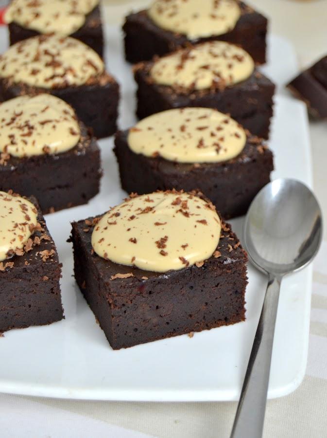 Brownie de chocolate y café