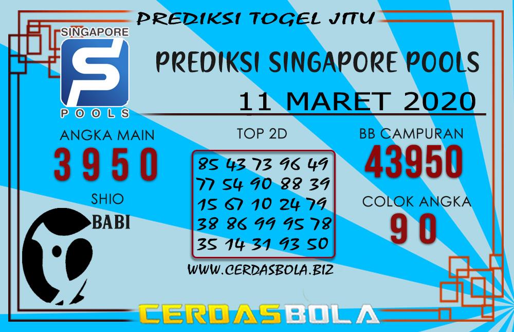 Prediksi Togel SINGAPORE CERDASBOLA 11 MARET 2020
