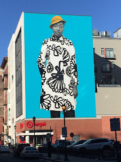 Mural on Sansom Street by Amy Sherald