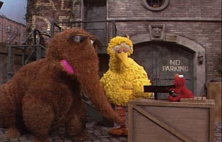 Elmo sings Elmo's Song for Big Bird and Snuffy. Sesame Street Best of Friends