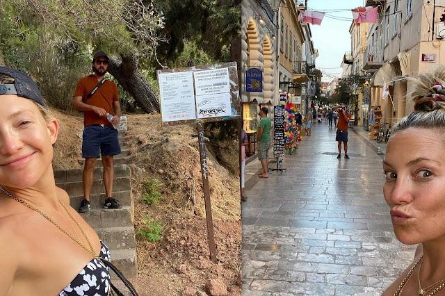 Κέιτ Χάντσον: Η χολιγουντιανή σταρ επισκέφθηκε το Ναύπλιο
