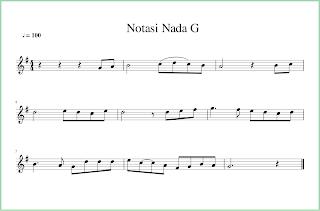 gambar notasi balok nada g