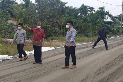 Bupati Inhil Tinjau Pengerjaan Jalan Sepanjang 2,2 KM di Lintas Kotabaru-Selensen