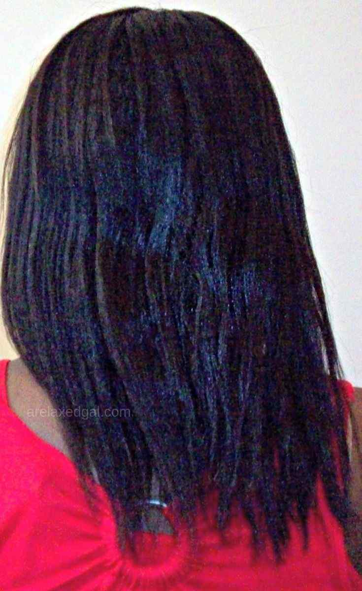 Removing product build-up from freshly relaxed hair | A Relaxed Gal