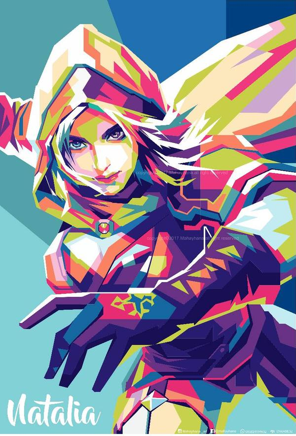 Wallpaper Natalia Mobile Legend WPAP by: mahayhana for Android and iOS