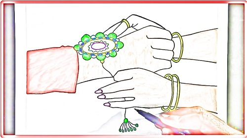 rakhi drawing for raksha bandhan