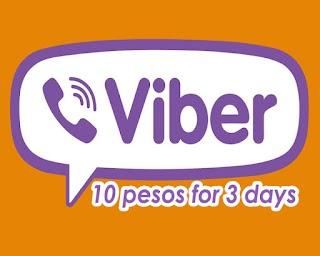TNT Viber10 - 3 days Viber Promo for only 10 Pesos