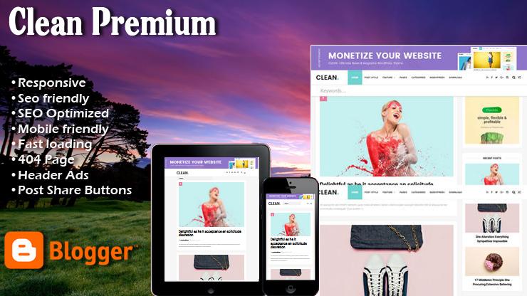 Clean Premium Responsive Blogger Template