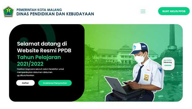 link ppdb tk sd smp kota malang