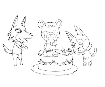 #10 Animal Crossing Coloring Page
