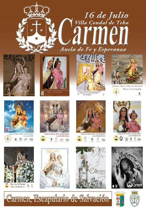 Cartel Oficial 2021 de la Real Cofradía de Nuestra Señora del Carmen de Teba (Málaga)