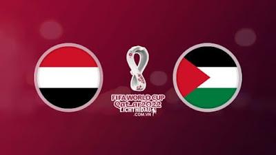مشاهدة مباراة فلسطين واليمن