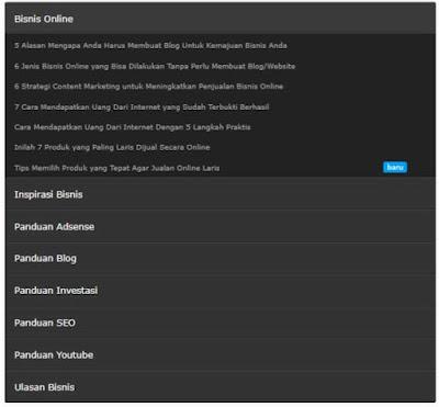 Cara Membuat Sitemap with Label pada Blog dengan Model Show Click