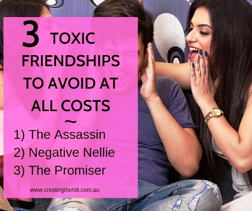 Everyone has friends who aren't living up to what we'd hoped for. Here's three toxic friendships you want to avoid at all costs. #friendship