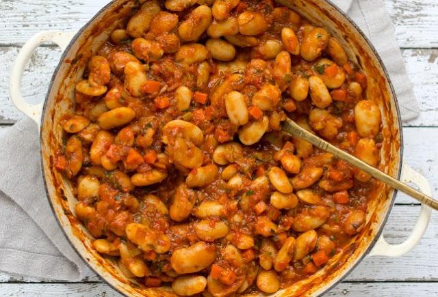 Greek Butter Beans (Gigantes Plaki) #vegan #dinner