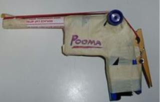 Mainan Unik Dan Artistik Pistol Karet Gelang (Rubber Band Gun)