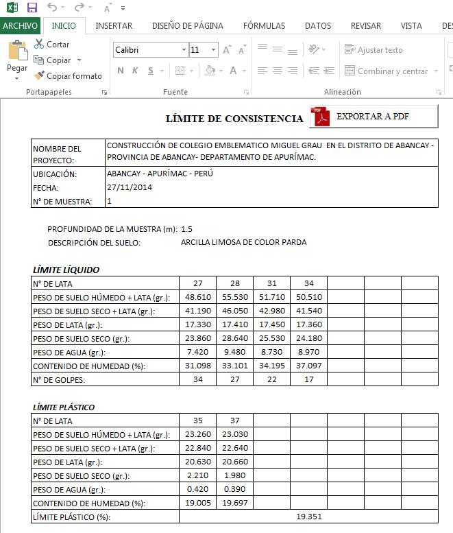 Hojas de clculos y programas para ingeniera civil xls hoja de nota ccuart Choice Image