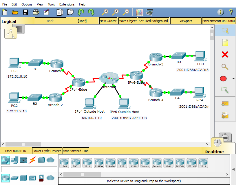 Lab 7 1 - Propagating a Default Route in EIGRP for IPv4 and