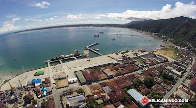 Foto Udara salah satu sudut kota Kaimana Papua Barat