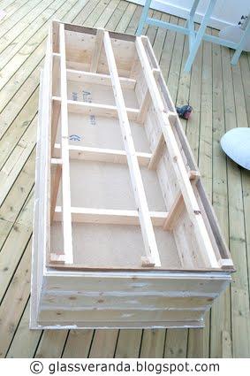 Bygge benk inntil vegg