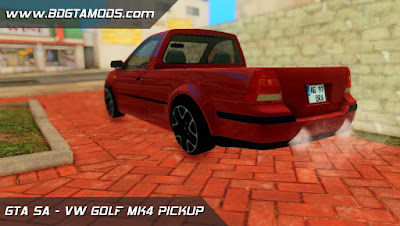 VW GOLF MK4 PICKUP para GTA San Andreas, GTA SA