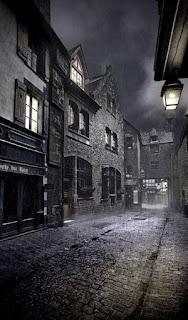 Wallpaper pemandangan malam hari di kota