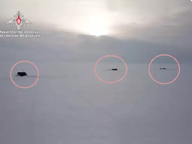 Russia's three ballistic missile submarines are patrolling in the Arctic