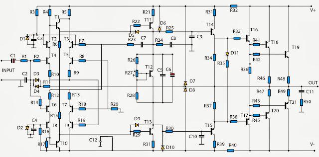build a simple audio amplifier 2800w circuit diagram electronic