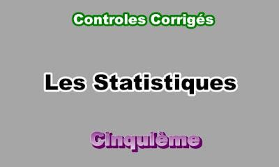 Controles Corrigés de Statistique 5eme en PDF