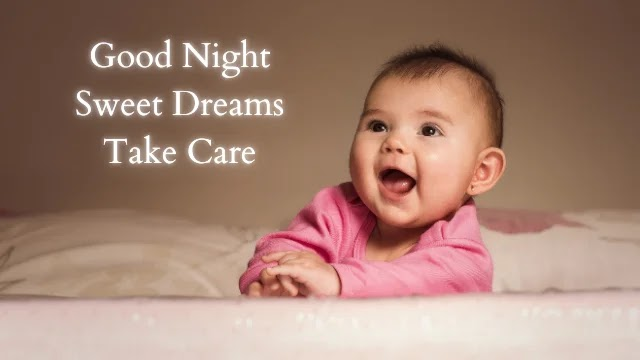 good night image with baby