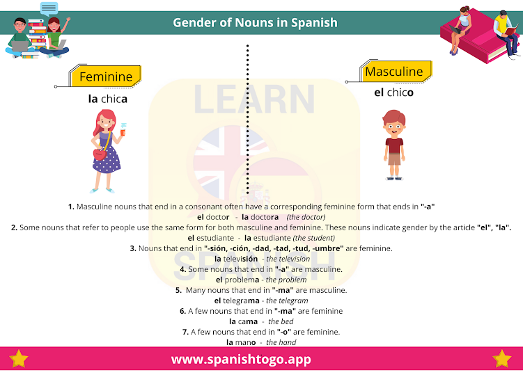 What are common gender nouns in Spanish?