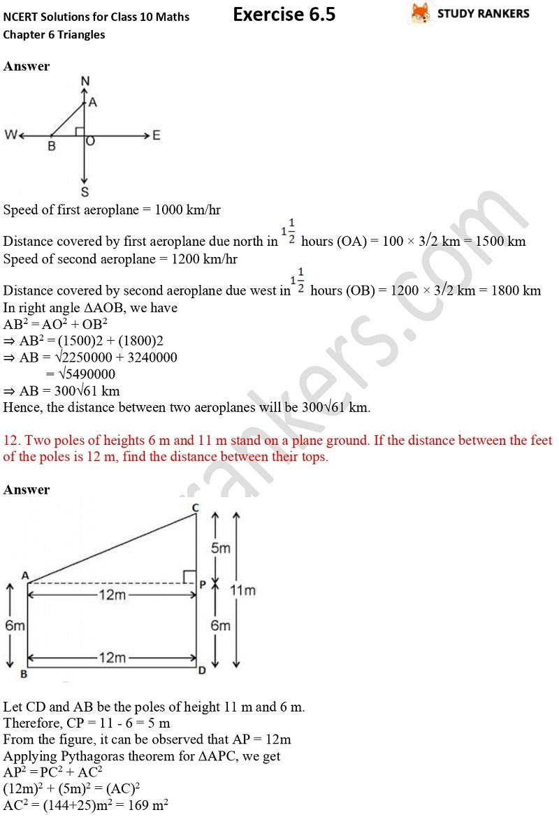 NCERT Solutions for Class 10 Maths Chapter 6 Triangles Exercise 6.5 Part 8
