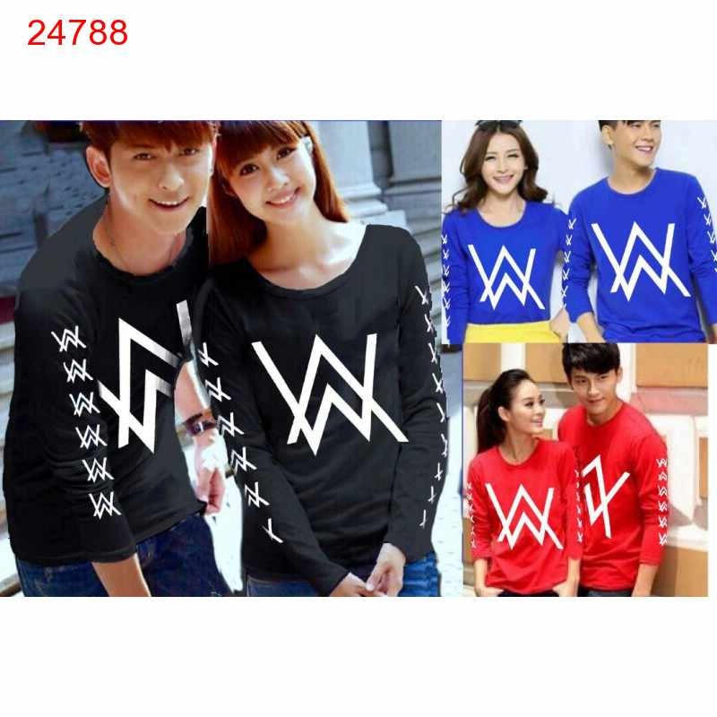 Jual Couple Lengan Panjang LP Alan Walker Logo - 24788