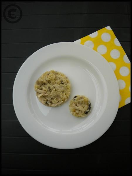 Risotto aux champignons et poulet - Cuisinez avec Honorine