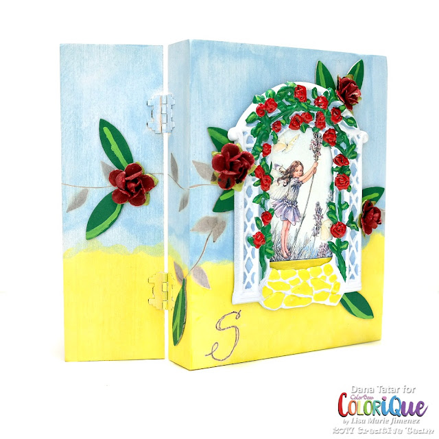 Whimsical Fairy Garden Box by Dana Tatar for ColoriQue by Lisa Marie Jimenez
