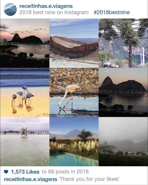 fotos mais curtidas do Instagram Receitinhas e Viagens Best nine