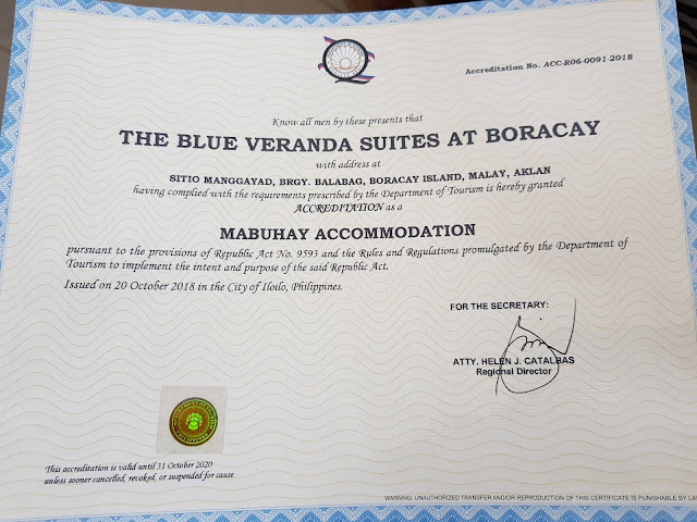 UPDATED LIST OF ACCREDITED AND COMPLIANT HOTELS AND RESORTS IN BORACAY