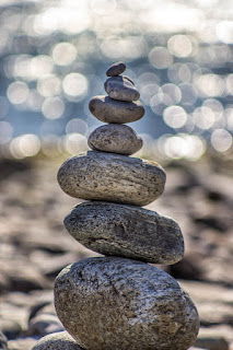 Picture of stapled stones symbol of balance