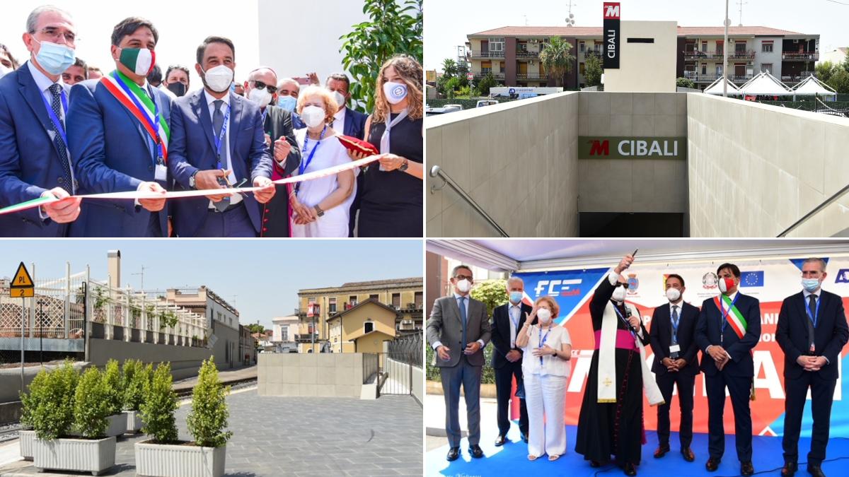 Inaugurazione Stazione metropolitana Cibali Catania