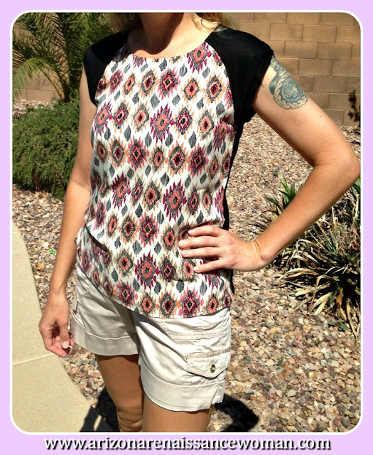 Le Sample Cap Sleeve Top - Golden Tote Review - March 2016