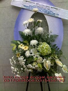 bunga duka cita ( krans segar )