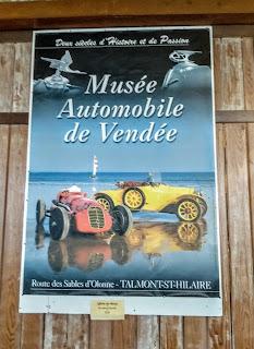 Cartel del Musee Automobile de Vendee France, Francia