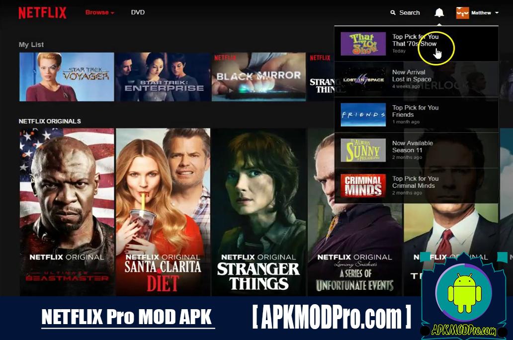 Netflix MOD APK 7.38.0 (Premium Version) for Android