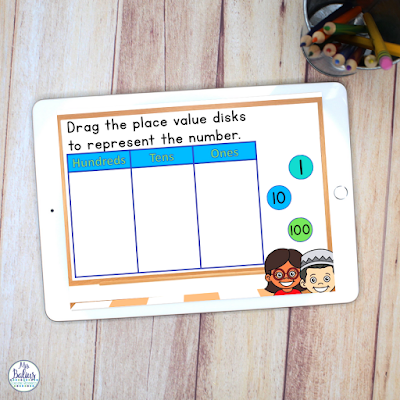 digital place value activities for second grade