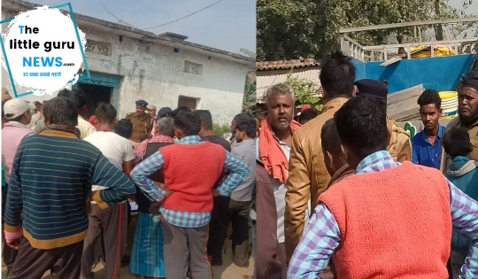Seized attachment of absconding accused's house in Chakia