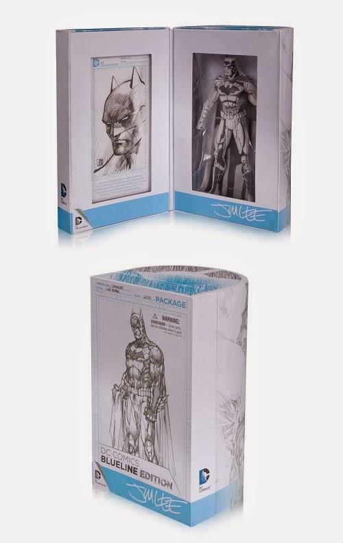 DC Diamond Exclusive SDCC 2015 Jim Lee Batman Blueline Sketch Action Figure MIB!